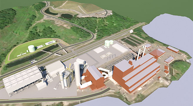 Rendering of Repowered Danskammer Energy Center